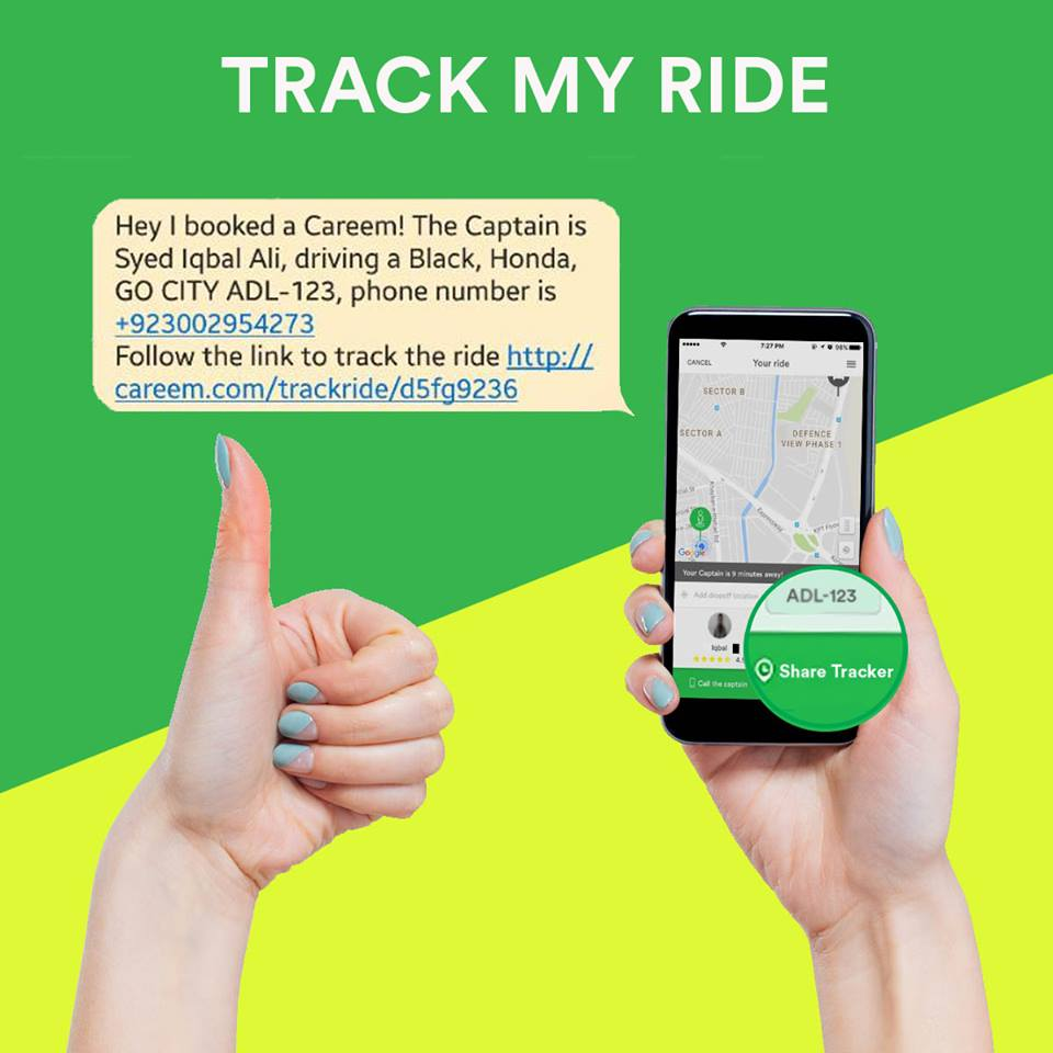 Photo of Careem Track My Ride Service Really Helpful