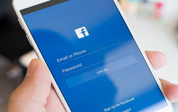 Facebook account login with cell number