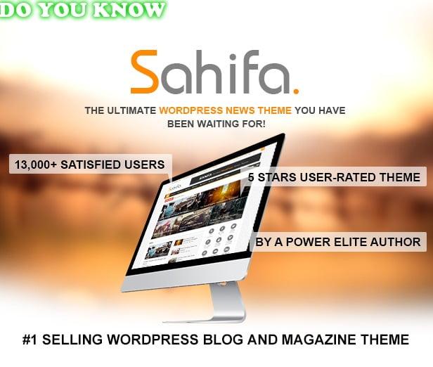 Photo of Sahifa – Best Responsive WordPress theme – Free download