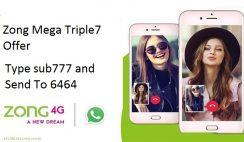 Zong Mega Triple 7 Offer