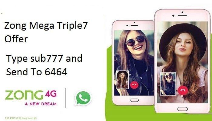 Photo of Zong Mega Triple 7 Offer