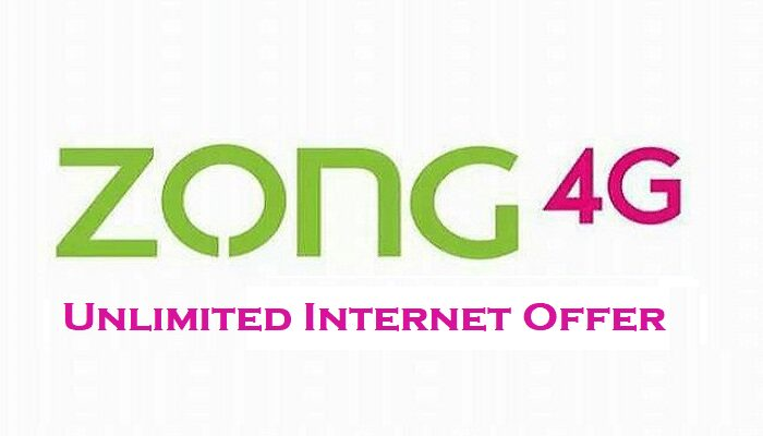 zong unlimited internet offer
