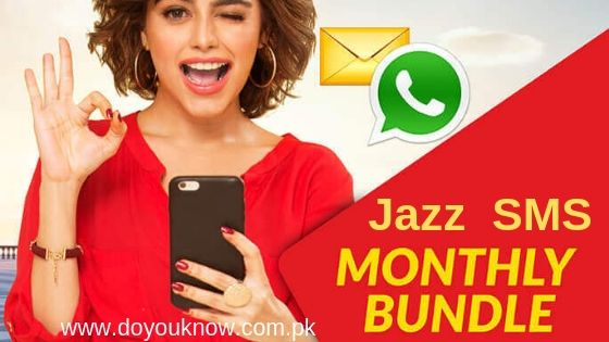 Photo of Jazz Monthly SMS Packages