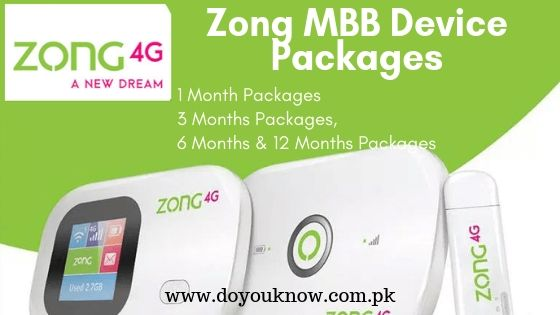 Photo of Zong Internet Device Packages