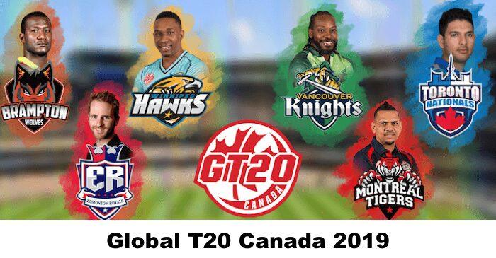 Global T20 League Schedule 2019