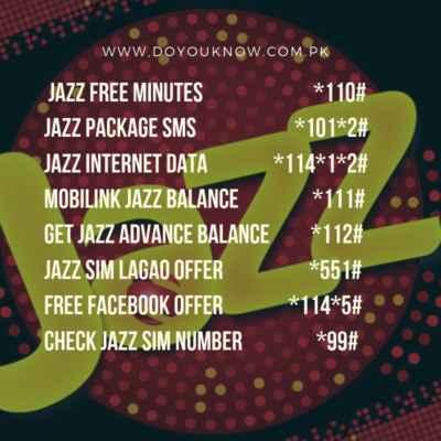 Jazz Sim Codes, Jazz MB Check Code, Jazz Advance Code, Jazz Balance Check Code