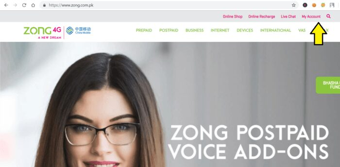 Zong ECare Account Detail Check Minutes, SMS & Zong Balance