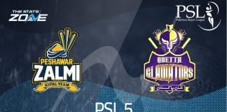 Peshawar Zalmi vs Quetta Gladiator PSL 2020 Live Streaming