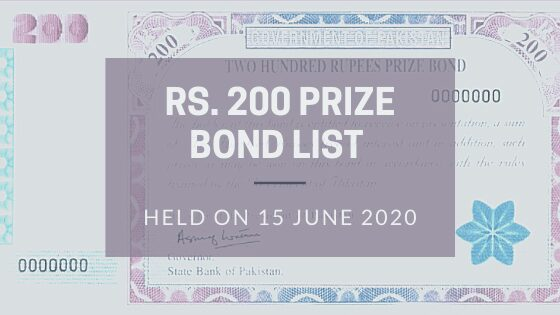 Photo of Rs. 200 Prize Bond List Draw 82 on 15-06-2020 in Quetta