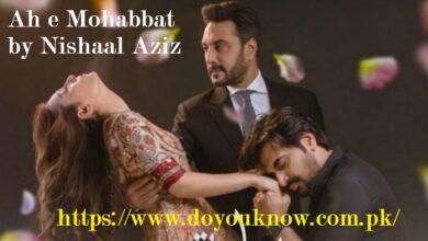 Photo of Ah E Mohabbat By Nishaal Aziz Novel : Overview