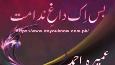 Photo of Bas Ik Dagh e Nidamat Novel by Umera Ahmad