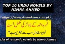 Photo of Top 10 Urdu Novels by Nimra Ahmed